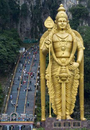 hindu god shiva: Batu caves temple, Kuala Lumpur, Malaysia Stock Photo
