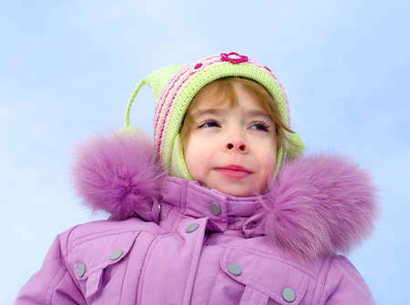 hairband: laughing girl dressed in winter clothes