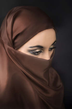 Portrait of a young   muslim girl photo