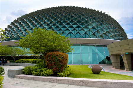 SINGAPORE -AUGUST 21: Esplanade Theater on August 21, 2011 in Singapore. Esplanade theater is a modern building for musical,art gallery and concert located at riverside near Singapore Flyer.