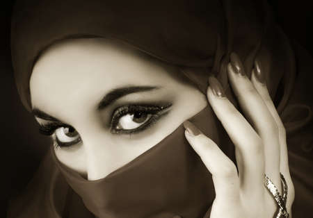Portrait of a young muslim girl  Stock Photo