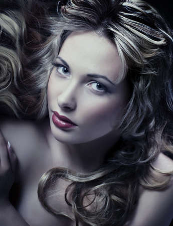 portrait of a young beautiful blonde woman  photo