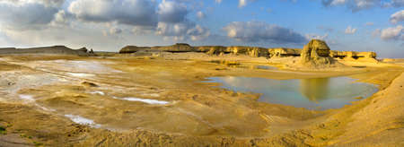 Panorama of  valley  after raining, Oman photo