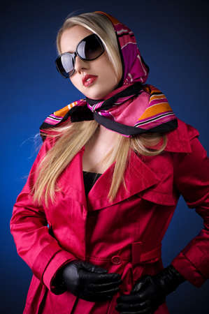 Portrait of an attractive young woman in sunglasses. Stock Photo - 12764683