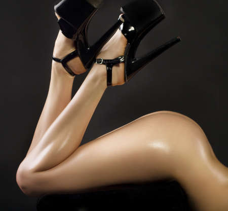 Beautiful womans legs in heels