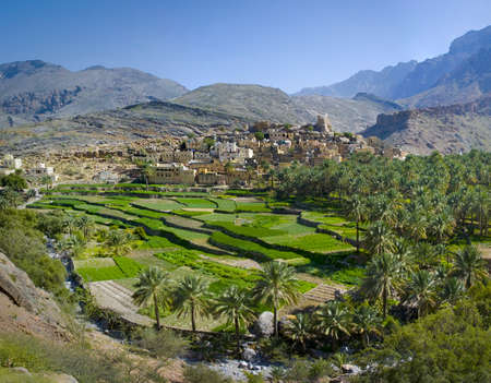 The village Bilad Sayt, sultanate Oman