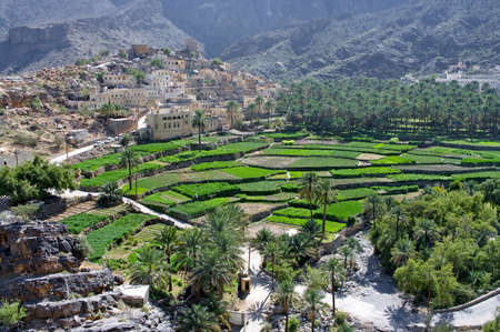 The village Bilad Sayt, sultanate Oman  Stock Photo