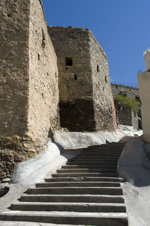 The stairs in village Bilad Sayt, sultanate Oman  photo