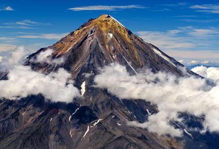 kamchatka: Vulcano Koryaksky sulla penisola di Kamchatka, Russia.