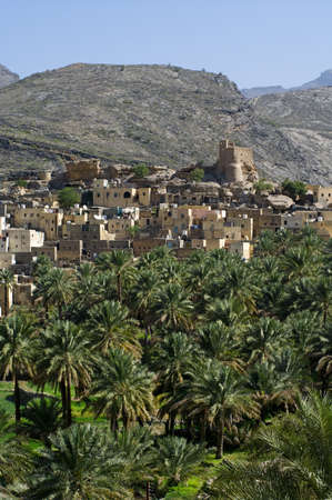 The village Bilad Sayt, sultanate Oman Stock Photo - 15286220