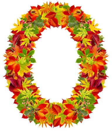 O, autumn alphabet isolated on white