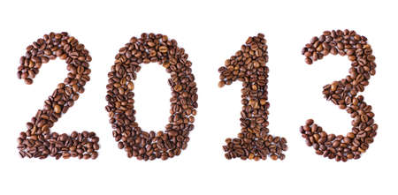 New Year 2013 made of beans coffee Stock Photo - 16267126