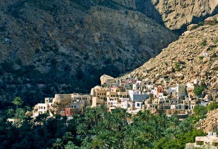 Un village de montagne, sultanat d'Oman Banque d'images - 16492549