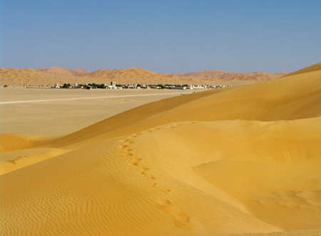 Village Al-Hashman in the desert, Oman Stock Photo - 16702755