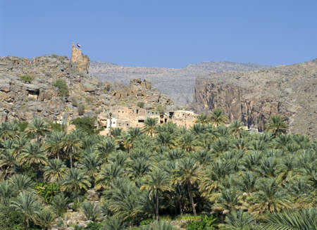 The village Misfat, sultanate Oman  photo
