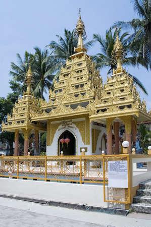 blissfull: Dharmikarama burmese temple on island Penang, Malaysia