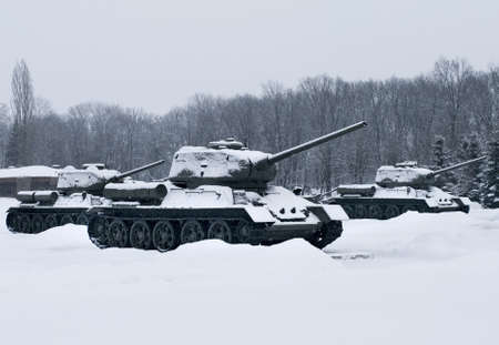 Russian  Tanks in Prokhorovka. This is place  of largest tank battle in the history of WW II. Russia Stock Photo - 18707023