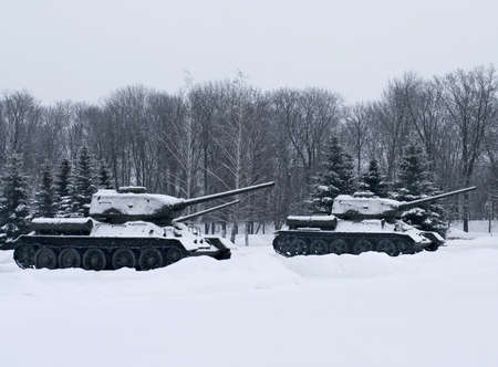 Russian  Tanks in Prokhorovka. This is place  of largest tank battle in the history of WW II. Russia photo