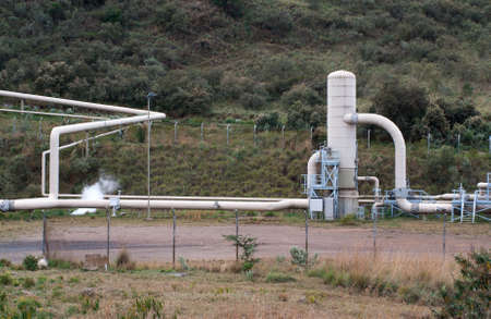 Olkaria II  geothermal power plant in Kenya photo