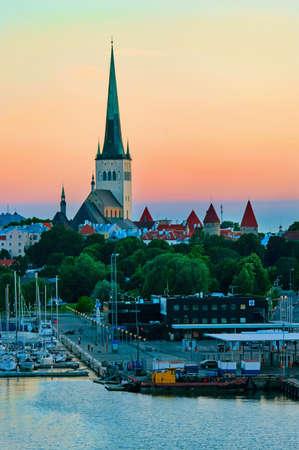 Evening scenic summer view of Tallinn, Estonia  White night Stock Photo - 21786445