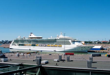 spl: HELSINKI, FINLAND - JULY 7, 2013  Passenger ship Brilliance of the Seas in port  on July 7, 2013 Helsinki, Finland  The 90,090-ton, 2,112-passenger ship Brilliance of the Seas is the second in Royal Caribbean