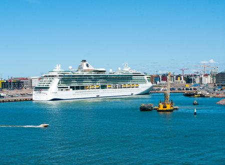 spl: HELSINKI, FINLAND - JULY 7, 2013: Passenger ship Brilliance of the Seas in port  on July 7, 2013 Helsinki, Finland. The 90,090-ton, 2,112-passenger ship Brilliance of the Seas is the second in Royal Caribbeans.