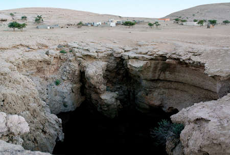 Khoshilat Maqandeli (First Drop), Majlis Al-Jin Cave in Oman 版權商用圖片