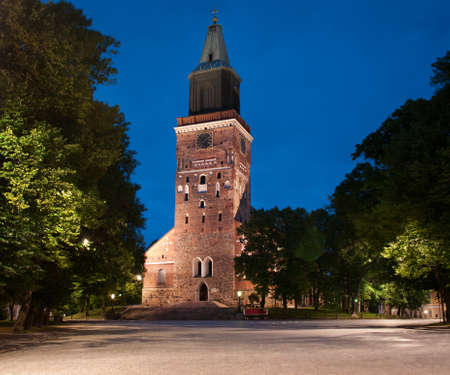 turku: Medieval cathedral in Turku , Finland   Stock Photo