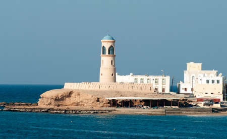 sur: Lighthouse at Sur in Oman. Middle East  Stock Photo