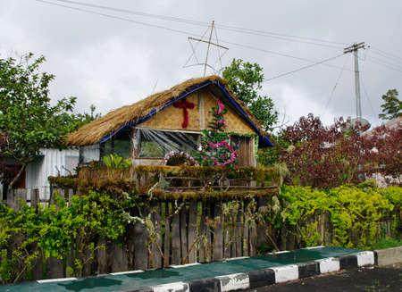 Nuova Guinea: Camera decorata prima di Natale, Provincia di Papua, isola di Nuova Guinea