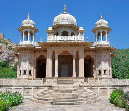 maharaja: Maharaja Sawai Mansingh II, museum trust the city palace . Gatore Ki Chhatriyan, Jaipur, Rajasthan, India.