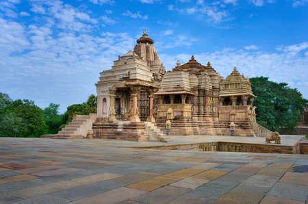 pradesh: Temple in Khajuraho. Madhya Pradesh, India  Stock Photo
