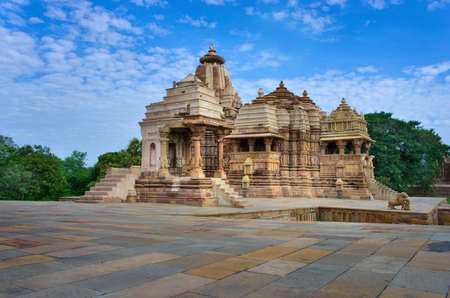 khajuraho: Templo en Khajuraho. Madhya Pradesh, India