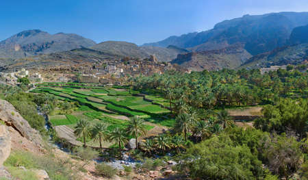 The village Bilad Sayt, sultanate Oman  写真素材