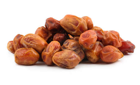 dried dates on white background  Stock Photo