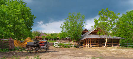 hayloft: Old farm in Butuceni, Moldova