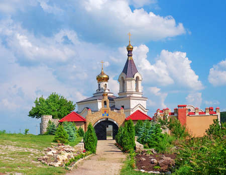 Christian Orthodox church in Old Orhei, Moldova photo