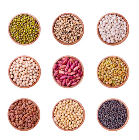 legume: Legume collection over white background