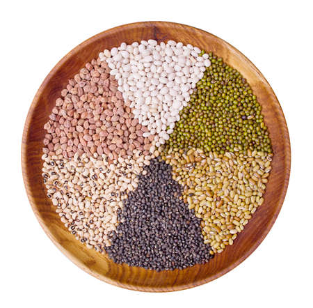 Legume collection over white background  photo