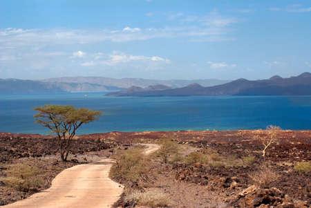 La route vers le lac Turkana, au Kenya Banque d'images - 31632226