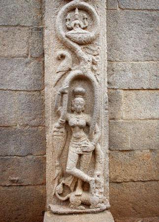 mamallapuram: Ancient basreliefs  and statues   in Mamallapuram, Tamil Nadu, India