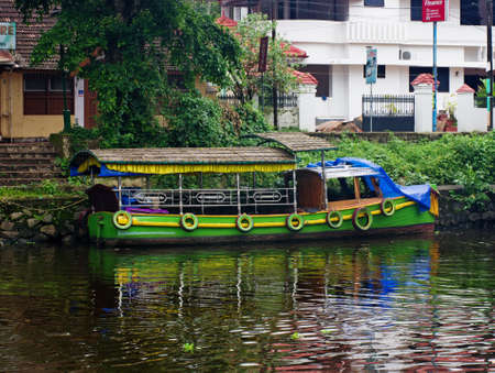 alappuzha: Alleppey, India - October 18: Traditional Indian boats  in Alleppey (Alappuzha) on Kerala backwaters on October 18, 2014. Editorial