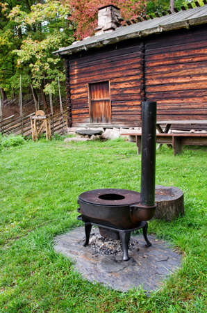 cultural history: Vintage  Norwegian stove. The Norwegian Museum of Cultural History, Oslo.