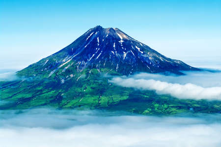 kuril: Fuss Peak Volcano at Paramushir Island, Kuril Islands, Russia