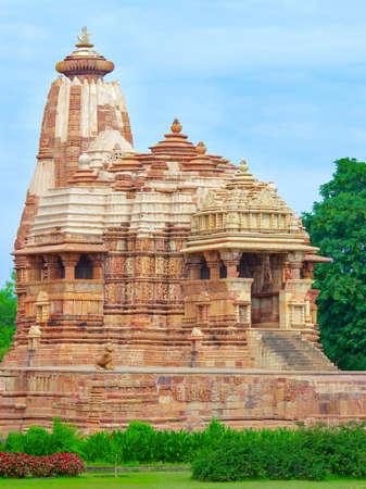 khajuraho: Temple in Khajuraho. Madhya Pradesh in  India Stock Photo