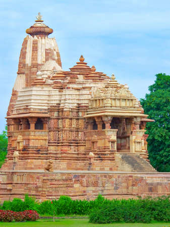 khajuraho: Templo en Khajuraho. Madhya Pradesh, en la India