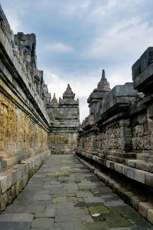 Buddist temple Borobudur in  Yogyakarta. Java, Indonesia photo