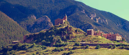 alt: Josa de Cadi in comarca of Alt Urgell,  Catalonia, Spain.Vintage instagram filter