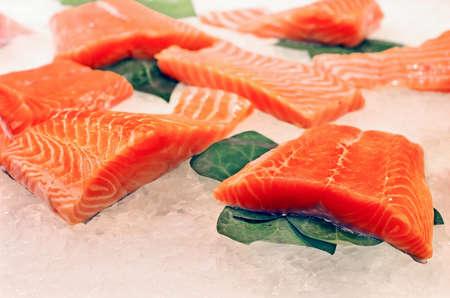 boqueria: fresh fish at  La Boqueria market in Barcelona Stock Photo