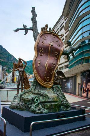 salvador dali: ANDORRA LA VELLA, ANDORRA - JULY 28:  Sculpture The Nobility of Time  by Salvador Dali in Andorra la Vella on  July 28, 2014, Andorra.